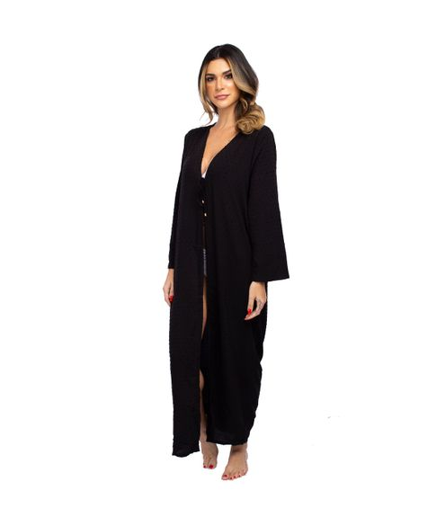 Saida-Longa-Kimono-Textura-Poa-Preto
