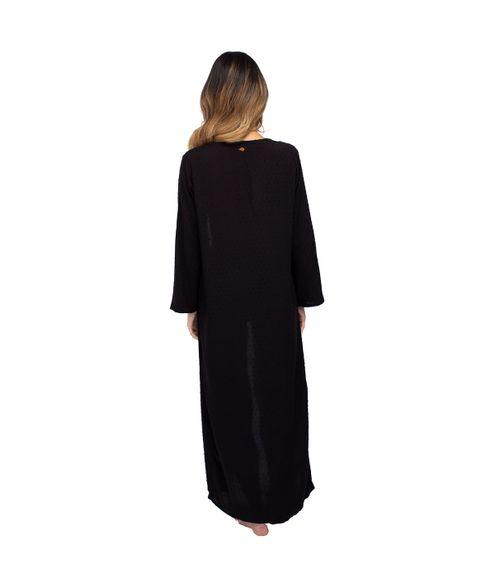 Saida-Longa-Kimono-Textura-Poa---Preto